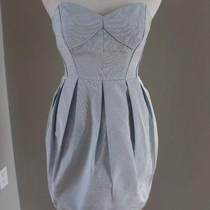Shoshanna Blue Strapless Mini Dress